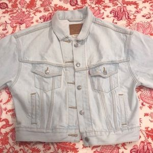 Levi light wash denim jacket, worn once